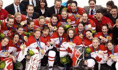 JJOO de invierno Vancouver 2010. Equipos de Hockey de Canadá, oro en sus respectivas categorías.