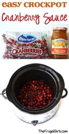 """Easy Crockpot Cranberry Sauce Recipe! ~ from TheFrugalGirls.com ~ """"the perfect Slow Cooker Cranberry Sauce for your Thanksgiving and Christmas meals! It's SO good!"""""""
