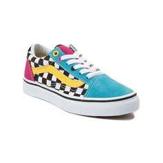 fb3b2d66de Youth Vans Old Skool Chex Skate Shoe