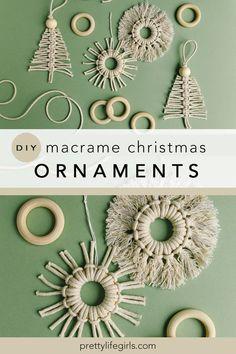 Holiday Crafts: DIY Macrame Christmas Ornament | The Pretty Life Girls