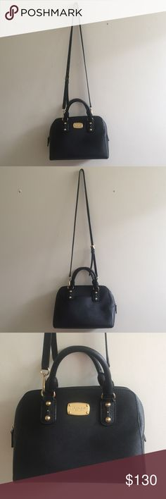 Michael Kor mini Saffiano Leather Satchel bag Has minor flaws please see the pictures. But doesn't affect the use of it. NO LOWBALLS. The Hardware is Gold Michael Kors Bags Crossbody Bags