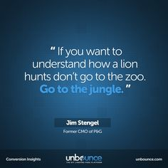Welcome to the Jungle Jim. This week's #conversion #marketing insight.