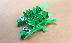 Make A Peg Crocodile | Animal Crafts For Kids | Kids Activities And Games