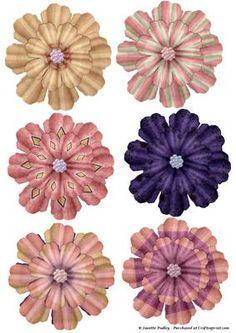 Szenvedélyesen Paisley Flowers - CUP344834_1749 | Craftsuprint