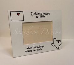 SO going to need these after we move!!  HORIZONTAL 4x6 State to State Picture Frame by SouthernDivine