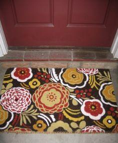 Door mat perfect for fall. Outdoor Mats, Doormats, Welcome Mats, Animal Print Rug, Sweet Home, Fall, Pattern, Home Decor, Autumn
