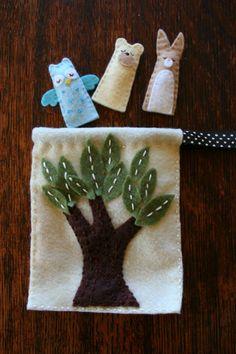 A Handmade Tale: Felt Finger Puppets and Carry Bag