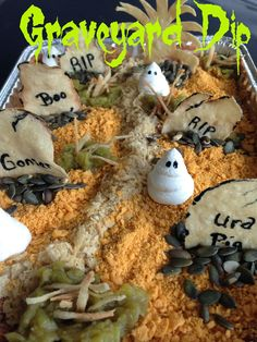 Graveyard Dip - so easy and fun for Halloween.
