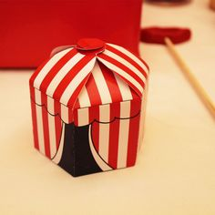 Printable Circus/Carnival Tent Favor Boxes by Lavender Lime Designs