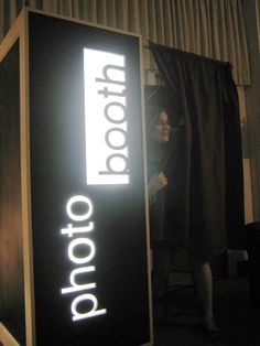 How to design a photo booth. Rigs a computer, digital camera and remote.