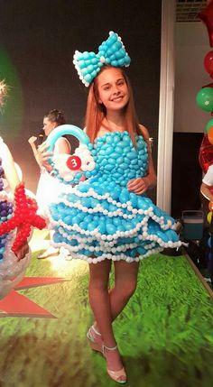 Cutie Balloon Arrangements, Balloon Centerpieces, Balloon Decorations, Balloon Dress, Love Balloon, Balloons Galore, Balloon Modelling, Balloon Crafts, Balloons And More