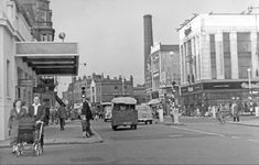 The Cut (Upper Marsh) and Waterloo Road cross roads, Lambeth London History, British History, Vintage London, Old London, Festival Hall, Royal Mail Stamps, Liverpool Town, Waterloo Road, Waterloo Station