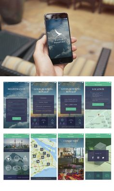 The Road Fresh Travelled #app #design #cathay #passport #UI #UX #advertising #cathypacific #studentwork #interface #stamps