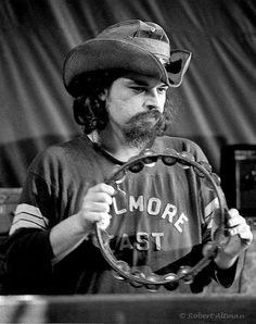 "Ron McKernan, ""Pigpen"", founding member of the the Grateful Dead, at The Family Dog - Feb 1970 Photo © Altman: all rights"