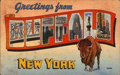 Vintage Buffalo, NY Postcard