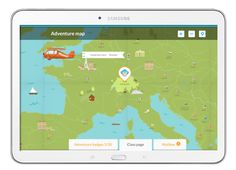 Online adventure destinations with different maps