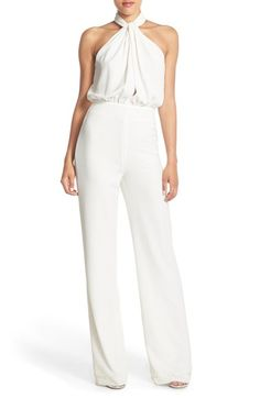 Misha Collection 'Abrianna' Halter Crepe Jumpsuit available at #Nordstrom