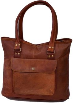 Soft Leather Handbags, Brown Leather Totes, Leather Purses, Real Leather, Best Purses, Shopper Bag, Satchel Bag, Casual Bags, Womens Tote Bags