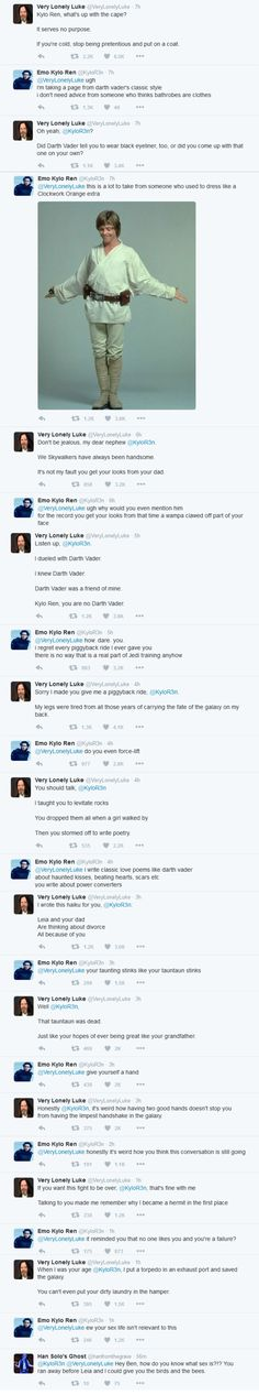 This Twitter Battle Between Very Lonely Luke and Emo Kylo Ren Takes the Cake - Cheezburger