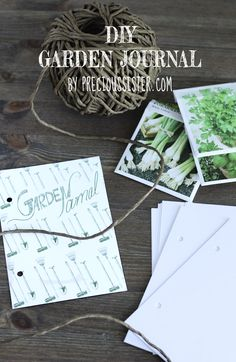 diy garden journal from Precious Sister.