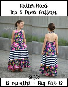 Ellie and Mac offers unique PDF sewing patterns and embroidery applique designs that allow you to make stunning boutique creations that will have you and your children standing out in a crowd. We make bold looks for all people. Ellie And Mac Patterns, Halter Maxi Dresses, Jacket Pattern, Jackets For Women, Summer Dresses, Clothes, Pdf, Retirement, Tops
