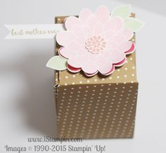 Mother's Day is next month! Check out the adorable gift box I created using the Flower Fair framelits which are on sale this week + FREE SHIPPING! Visit www.iStampin.com to learn more.