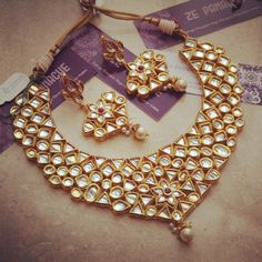 Bridal Necklace Set -Jewellery-Ze Panache
