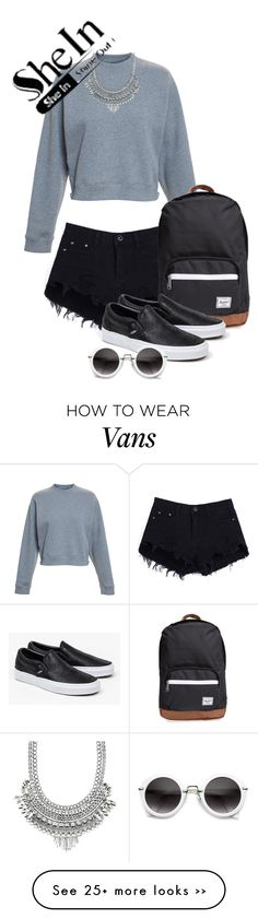 """Black Shorts"" by vivalaflyer on Polyvore featuring Acne Studios, Herschel Supply Co., Vans and Charlotte Russe"