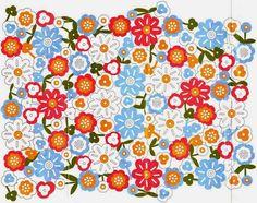 crochelinhasagulhas: Flores e o crochê