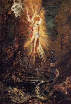 Apollo Vanquishing the Serpent Python' painting by Gustave Moreau. Vintage wall art for sale; fine art prints and painting reproduction Dante Gabriel Rossetti, Symbolic Art, Greek And Roman Mythology, Oil Painting Reproductions, A4 Poster, Visionary Art, Gustav Klimt, Henri Matisse, Vintage Wall Art