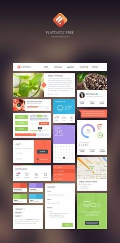 Flat Design or Flat PSD elements has been one of the most leading trends in web and user interface design. Today's we are selected most Talented Designers work Web Design Mobile, Graphisches Design, Web Ui Design, Dashboard Design, Design Blog, Free Design, Graphic Design, Ui Kit, Intranet Design