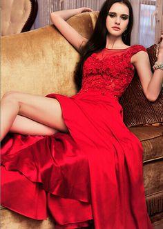 De nya sommarkläder toast brudens klänning röd aftonklänning rem spetsklänning långa avsnitt_balklänningar online