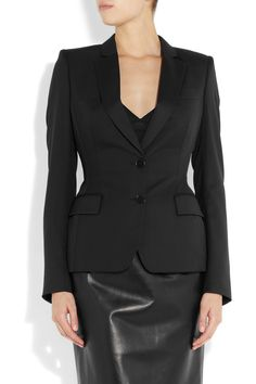 Stella McCartney | Fell wool-twill blazer | NET-A-PORTER.COM