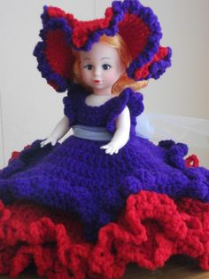 Red Hat with Purple Dress air freshener doll