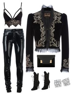 """Is that velvet"" by sistagirll on Polyvore featuring Anthony Vaccarello, Roberto Cavalli, Club L, Kendall + Kylie and Sophie Hulme"