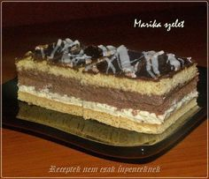 Marika szelet Hungarian Cake, Hungarian Recipes, Sweet Cookies, Cake Cookies, Sweet And Salty, Nutella, Oreo, Cheesecake, Dessert Recipes