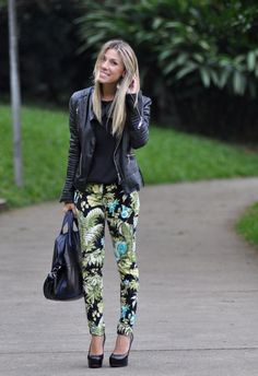 glam4you - nati vozza - look - calça estampada - printed pants - floral -