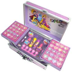 Buy Disney Princess Enchanting Train Make Up Case at Argos. Thousands of products for same day delivery or fast store collection. - Buy Disney Princess Enchanting Train Make Up Case Makeup Kit For Kids, Kids Makeup, Makeup Train Case, Makeup Case, Disney Princess Makeup, Makeup Toys, Barbie Doll Set, Unicorn Fashion, Unicorn Makeup