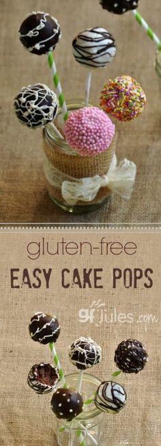 Easy Gluten Free Cake Pops | gfjules.com