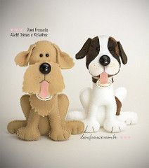 Cachorros de Feltro (Dani_Fressato) Tags: dog handmade artesanato craft felt cachorro feltro ideias retalhos danifressato