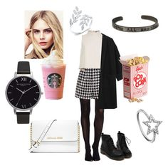 """Going to the cinema"" by bandiisblumy ❤ liked on Polyvore featuring SPANX, Emma Cook, TIBI, MICHAEL Michael Kors, Burberry, Olivia Burton and KC Designs"