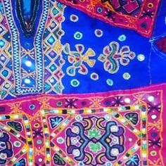 The Kanjeris by Muttvas community in Kutch.  The Mutvas from the Banni region of Kutch are among the most prolific when it comes to styles of embroidery.  They had migrated from Sindh many centuries ago most likely in search of fodder for their cattle.  Some of the most beautiful crafts of the Mutvas get created around wedding. From around when a girl is 8 to 9 years old, till the age of 21 or 22, she embroiders 7 kanjeris ( blouses), 21 Godhdis ( quilts) and 2 covers for Thakiyas.  The…