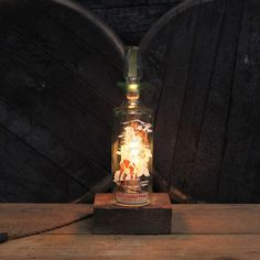 Handmade Recycled Antique Old Fitzgerald Prime by ReWickedCandle