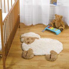 Nursery Little Lamb Natural Rug