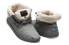 Highlands Grey Wool Fleck Fleece Women's Botas