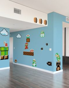 Super Mario Bros Re-Stik returns with new artwork and characters. Made with Blik Re-Stik, these movable and reusable decals are based on updated 8-bit graphics from the original Super Mario Bros. game