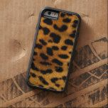 Leopard fur leather iPhone 6 Plus Case