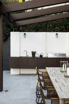 This impressive garden makeover cleverly links the terrace and pool area with an inviting entertaining zone. Australian Garden, Australian Homes, Ashlar Pattern, Stainless Steel Balustrade, Sydney Gardens, Kidney Shaped Pool, Grow Home, Lawn Care Tips, Garden On A Hill