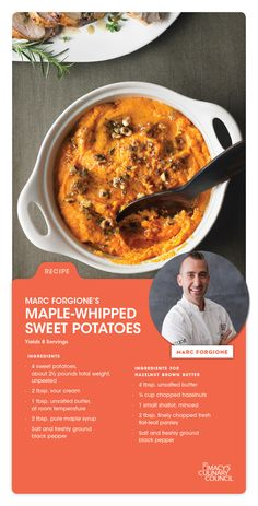Macy's Culinary Council Chef Marc Forgione's Maple-Whipped Sweet Potatoes