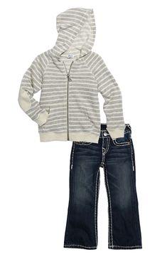Toddler Boy Outfit, Splendid Hoodie & True Religion Brand Jeans